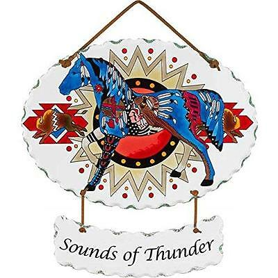 Trail Painted Ponies Sounds of Thunder Joan Baker Glass Horse Suncatcher