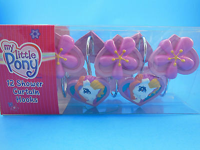 Set of 12 My Little Pony Shower Curtain Hooks New In Box