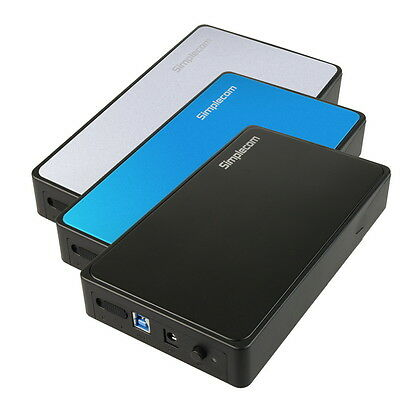 "USB 3.0 Tool-Free External 3.5"" SATA to USB3.0 Hard Drive HDD Case Enclosure"