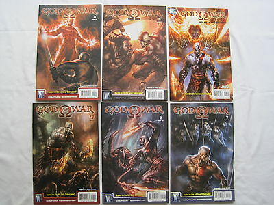 GOD of WAR : COMPLETE 6 ISSUE SERIES. BASED ON THE VIDEO GAME. By WOLFMAN. 2010