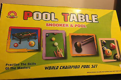 2 player Snooker and Pool Table Indoor Game Playing Set Snooker