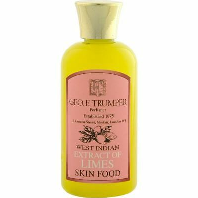 Geo F Trumper Mens 200ml Medium Extract of LIMES SKIN FOOD (Pre/Aftershave)