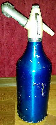 Big Siphon Soda Metallic Russian Soviet Union Old Vintage Bottle USSR Cartridges