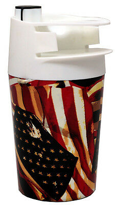 The Spittoon - (1) Cup and Moist Tobacco Tin Holder - American Flag