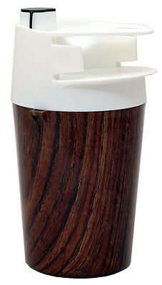 The Spittoon - (1) Cup and Moist Tobacco Tin Holder - Wood Grain