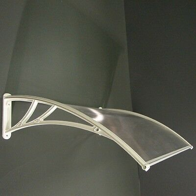 Polycarbonate Canopy Awning DIY kit, Onyx, Clear, White, 5ft