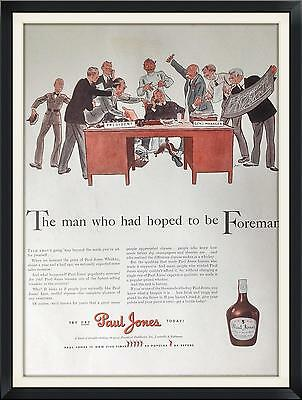 1941 Vintage Print Ad  Paul Jones Whiskey The Man Who Had Hoped To Be Foreman