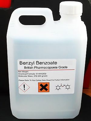 5000ml 5 litres Benzyl Benzoate 99.9% British Pharmaceutical Grade