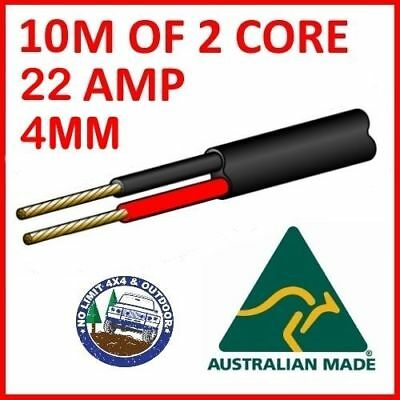 10M Of 2 Core 4Mm Wire Cable Battery Trailer Truck 12V 24V 30M Twin Metres