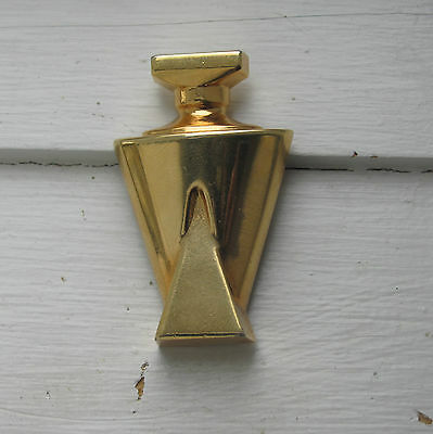 Guerlain Paris Made in France Small Gold Lapel Pin - Champs-Elysees Bottle Shape