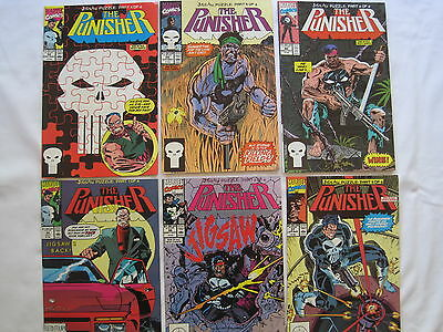 PUNISHER #s 35,36,37,38,39,40 : complete 6 issue JIGSAW PUZZLE STORY.1990.MARVEL