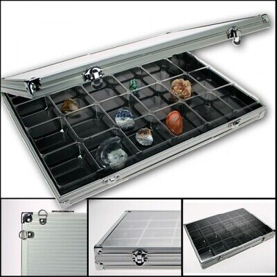 Aluminum Display Case with 24 Compartments