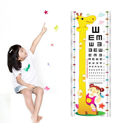 Unisex Kids Growth Height Measuring Cartoon Attractive Chart Decal Wall Sticker