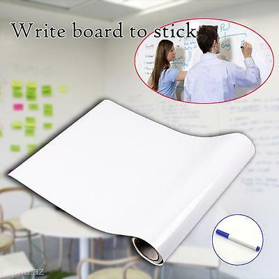 PVC Whiteboard Wall Sticker Roll Peel Dry Erase Stick On Decal Message Reminder