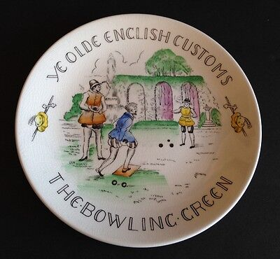 Ye Olde English Customs The Bowling Green Plate - Burgess & Leigh Fondeville