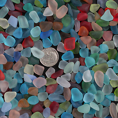 sea beach glass 30 pcs mixed color lot bulk blue green red 12-18mm jewelry use