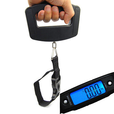 50kg/10g Portable Hand Held Digital LCD Electronic Luggage Balance Scale Weight
