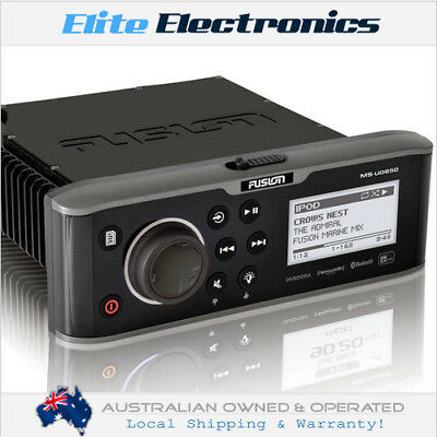 Fusion Ms-Ud650 Marine Bluetooth Stereo Ipod Dock Am Fm Aux Receiver Class-D Amp