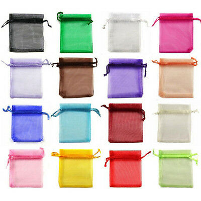 10-500 Organza Candy Gift Bags Wedding Drawstring Jewelry Storage Bag Pouches