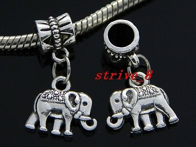 Wholesale 30/100pcs Tibetan Silver elephant Bulk Lots Dangle Charms DIY Bracelet