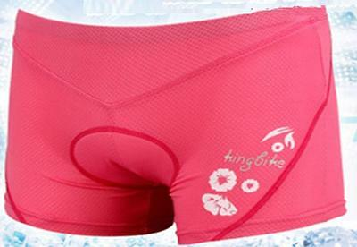 Pink Cycling bike spin class padded underpants knick shorts Womens