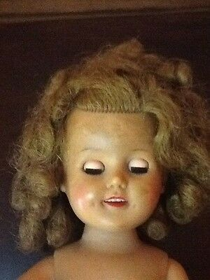 Antique Vintage Shirley Temple Doll, Beautiful Blinking Eyes,Ideal 15 Inches