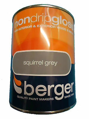 Berger Non Drip Gloss For Interior/Exterior - Wood/Metal Squirrel Grey Paint