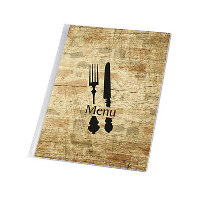 10 X MENU COVER A4 to 12 pages catering menu RESTAURANT universal holder BISTRO