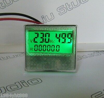 AC 80-300V/30-70HZ 3 in1 LCD Time Voltage Frequency Combo Meter For Generator