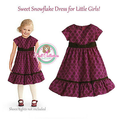 American Girl CL BITTY BABY SWEET SNOWFLAKE DRESS SIZE 4 for Girls Holiday NEW