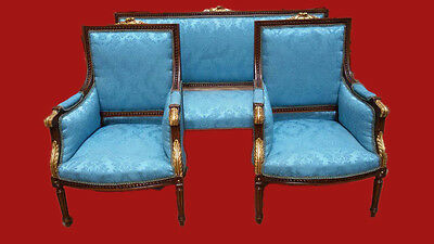 ANTIQUE 4 FRENCH LOUIS XVI CHAIRS