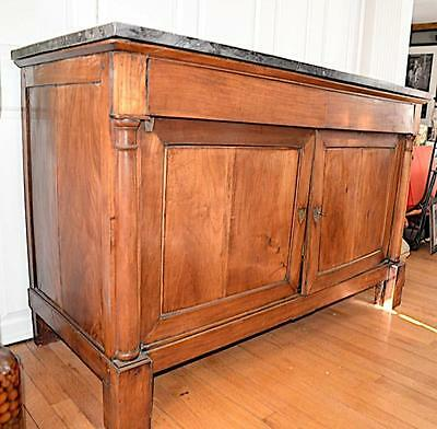19th Century Empire Buffet de Chasse in walnut , 1815ca or earlier w/marble