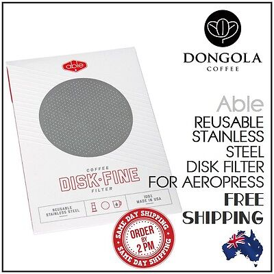 FINE ABLE DISK Stainless Steel Filter for AeroPress Coffee & Espresso Maker