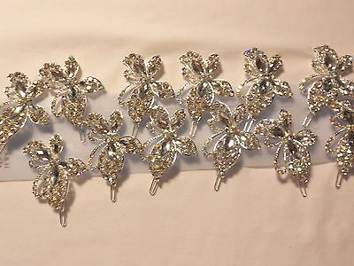 12pcs pretty Vintage  Brooches/Hair Clips for Wedding .