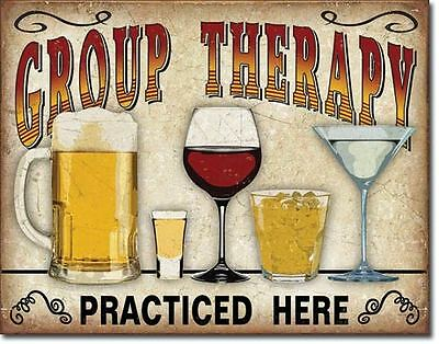 Group Therapy Practised Here  Tin Metal Signs Combined Postage For 2+