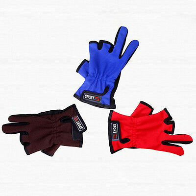 1 Pair ANTI-SLIP 3 Low Fingers Fishing Gloves Fish Clothing Multicolor