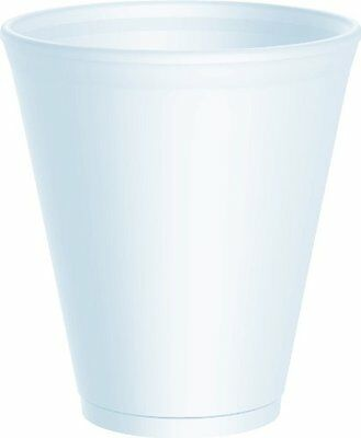 100 x Dart 12oz White Disposable Foam Polystyrene Cups Insulated Cold Tea Coffee