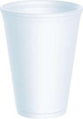 100 x Dart 10oz White Disposable Foam Polystyrene Cups Insulated Cold Tea Coffee