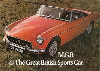 MG MGB Roadster 1971-72 UK Market Sales Brochure