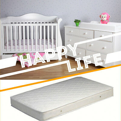 White Zealand Pine 3-in-1 Baby Sleigh Cot Bed & 7 Drawers Change Table Package