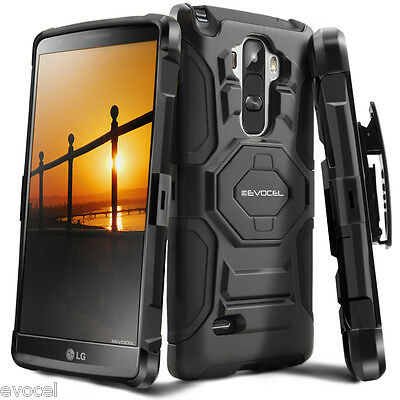 LG G Stylo Case, Evocel Dual Layer Rugged Holster with Kickstand & Belt Clip