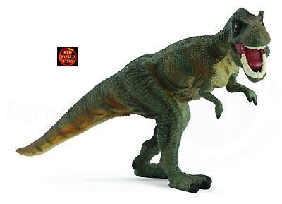 GREEN TYRANNOSAURUS REX TREX DINOSAUR MODEL by COLLECTA 88118 *NEW WITH TAG*