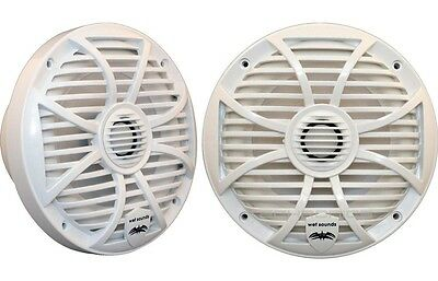 "New Wet Sounds Sw-650-W 6-1/2"" Loud 100W Rms Marine Boat Coaxial Speakers White"