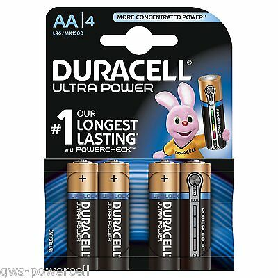 8 x Duracell Ultra Power AA Mignon LR6 MX1500 Batterie Photo Foto - 2 Blister