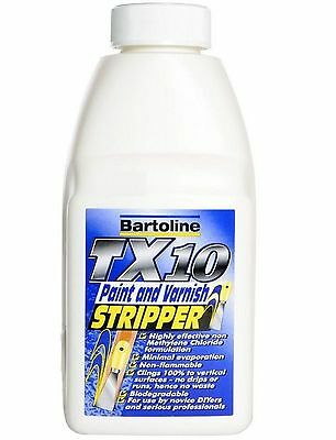 BARTOLINE TX10 PAINT AND VARNISH STRIPPER REMOVER NON DRIP 500ml