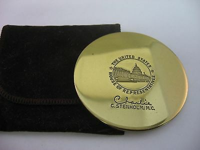 Vintage Political Memorabilia Coaster CHARLIE STENHOLM House of Representatives