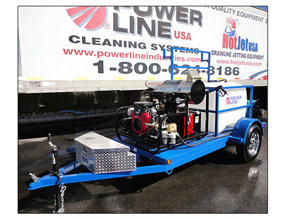 Pressure Washer Trailer, Hot/cold Water Mobile Power Washing Equipment