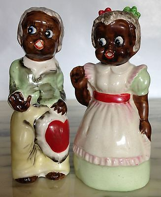 Vintage Made In Japan Black Americana CUTE Country Pair Of Movers And Shakers!