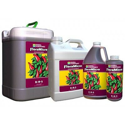 NEW General Hydroponics GH FloraMicro 32 Oz. or 1 Gallon Flora Micro Series