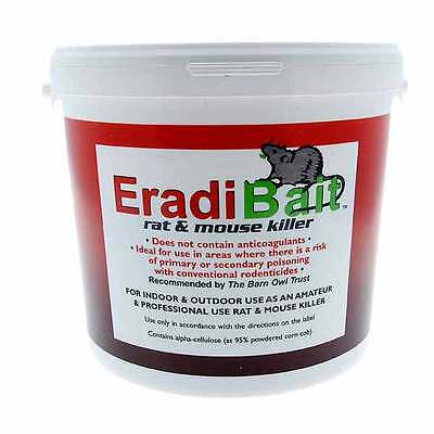 Eradibait 3kg - rat & mouse killer, safe for birds, other animals